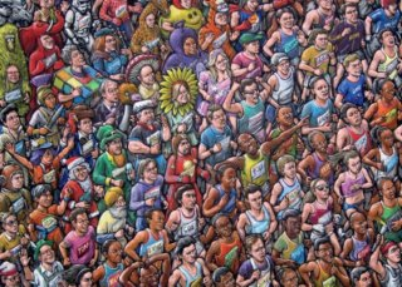 JUMBO Puzzle 17293 Běžící běžci 1000 dílků