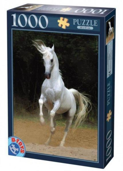 Puzzle D-TOYS 1000 dílků - Bílý kůň