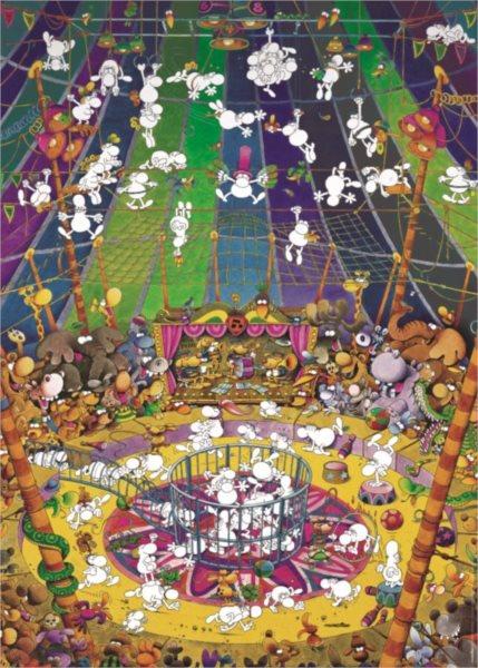 HEYE Puzzle Bláznivý cirkus 1000 dílků