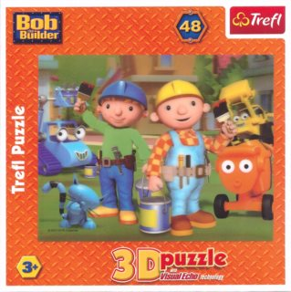 3D puzzle pro děti TREFL 48 dílků - Bořek stavitel 3D