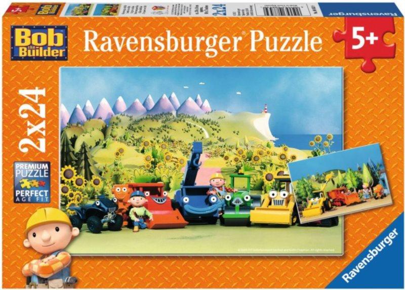 Dětské puzzle RAVENSBURGER 2x24 dílků - Bořek Stavitel: Den s Bořkem 2v1