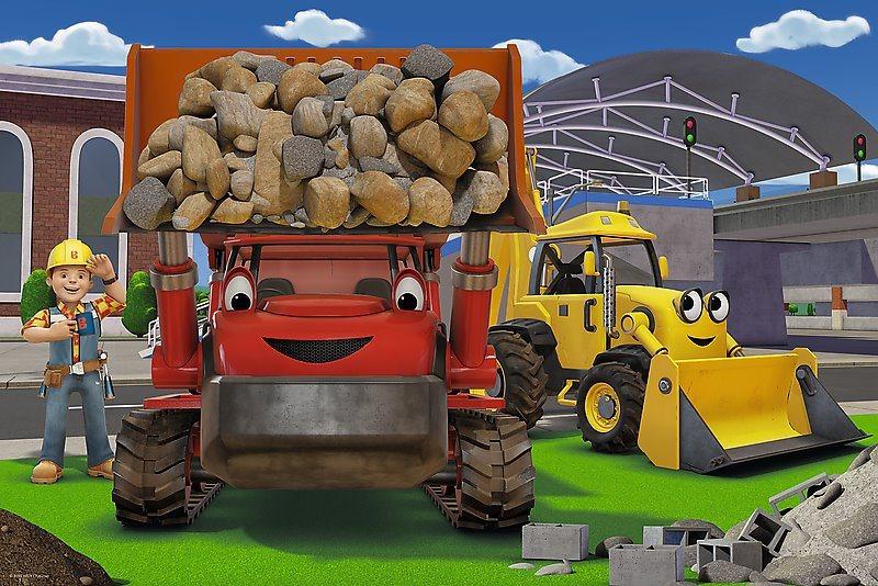 Maxi puzzle pro děti TREFL 24 dílků - Bořek Stavitel: Na stavbě