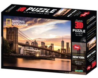 PRIME 3D Puzzle Brooklynský most, New York 3D 500 dílků