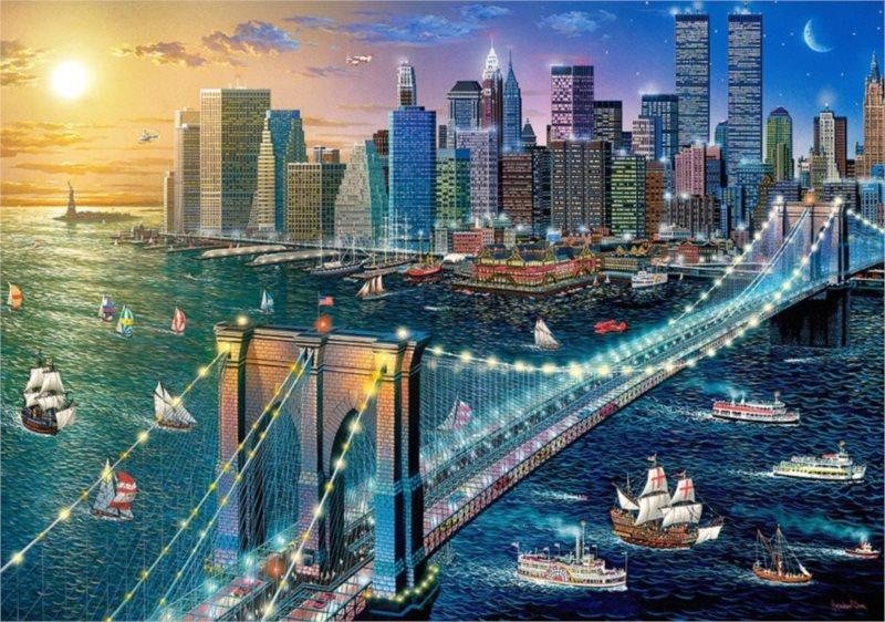 CASTORLAND Puzzle Brooklynský most, New York 500 dílků