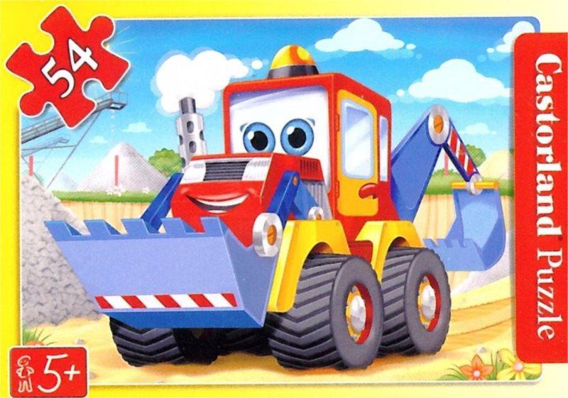 Dětské puzzle 54 dílků - Buldozer