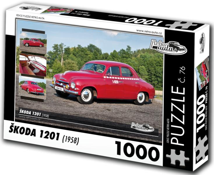RETRO-AUTA Puzzle č. 76 Škoda 1201 (1958) 1000 dílků