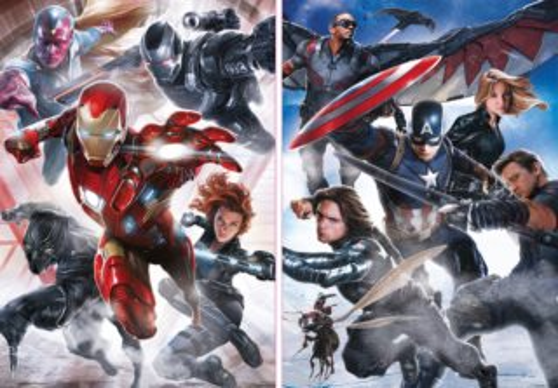 EDUCA Puzzle Captain America: Občanská válka 2x500 dílků