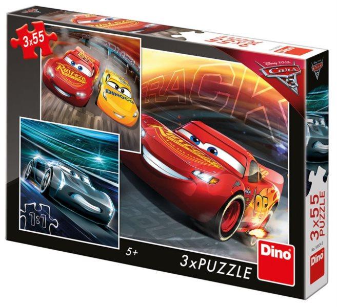 DINO Puzzle Cars 3: Trénink 3x55 dílků