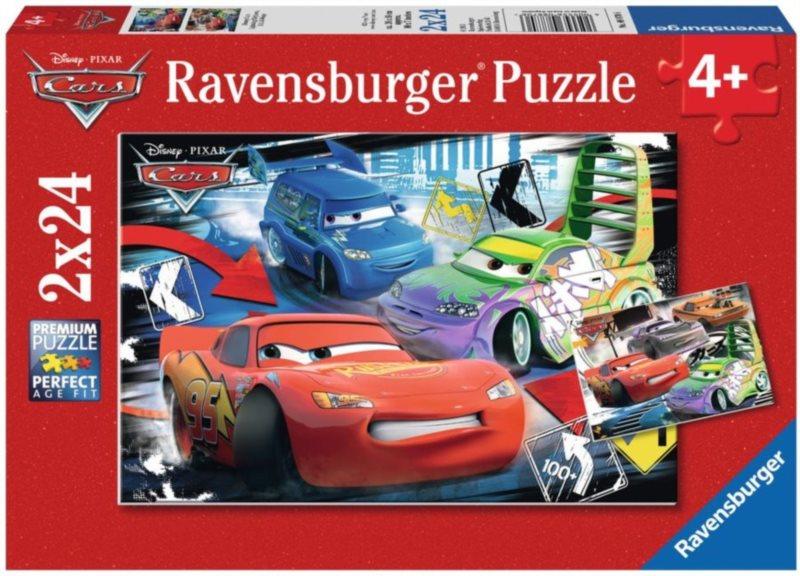 RAVENSBURGER Puzzle Auta: Blesk McQueen, D.J. & Wingo 2x24 dílků