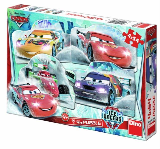 DINO Puzzle Cars: Na ledě 4x54 dílků