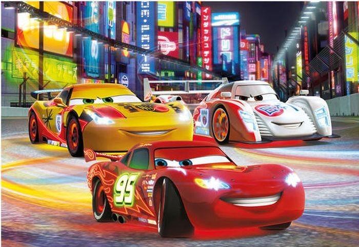 Dětské puzzle DINO 24 dílků - Cars: Noční závod