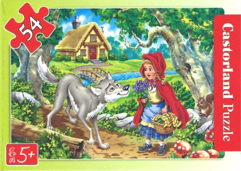 CASTORLAND Puzzle Červená Karkulka a vlk 54 dílků