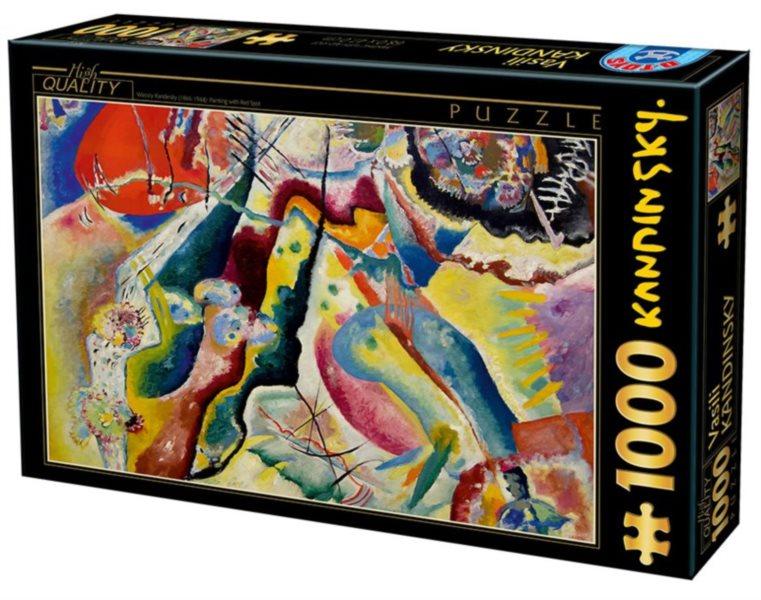Puzzle D-TOYS 72849 W. Kandinsky: Červené skvrny 1000 dílků