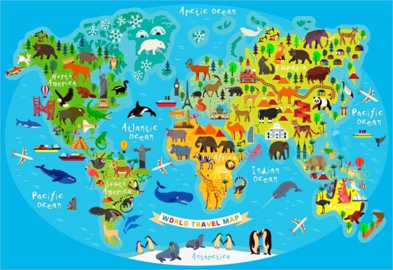 BLUEBIRD Puzzle Cestovní mapa světa 260 dílků