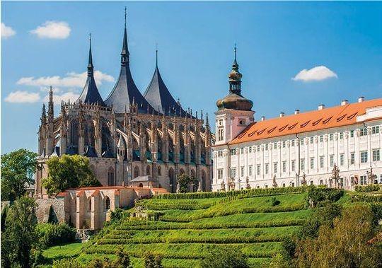 DINO puzzle 500 dílků - Chrám Svaté Barbory, Kutná Hora