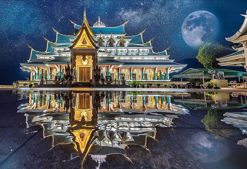 TREFL Puzzle Chrám Wat Pa Phu Kon, Thajsko 1500 dílků