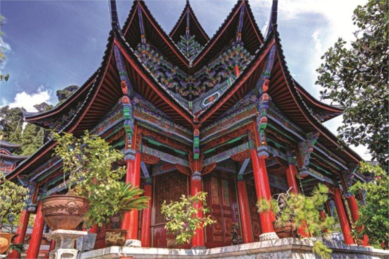 Puzzle JUMBO 18584 Čínský chrám 1500 dílků