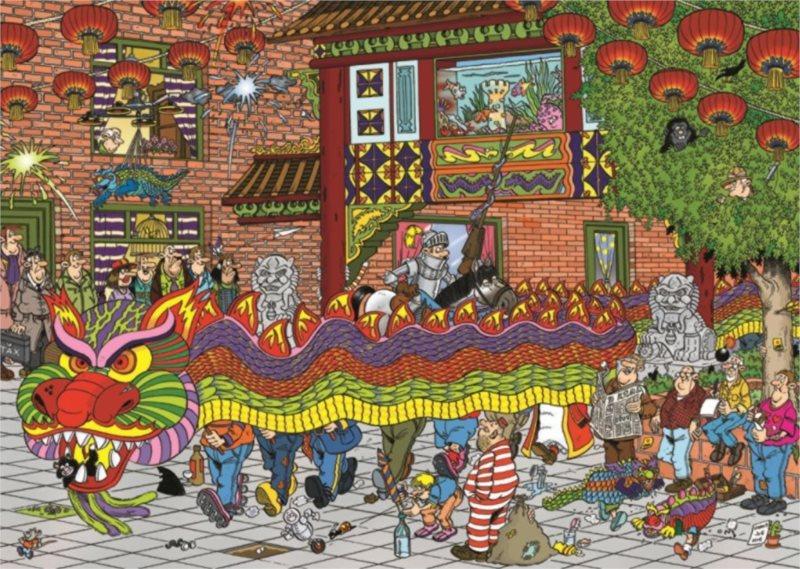 JUMBO puzzle 500 dílků - Čínský nový rok, Haasteren