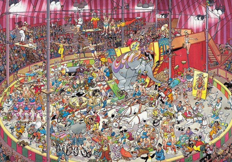 JUMBO Puzzle Cirkus 3000 dílků
