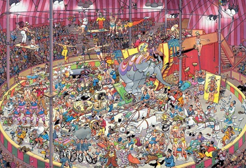 JUMBO 19018 Cirkus, Haasteren - puzzle 5000 dílků