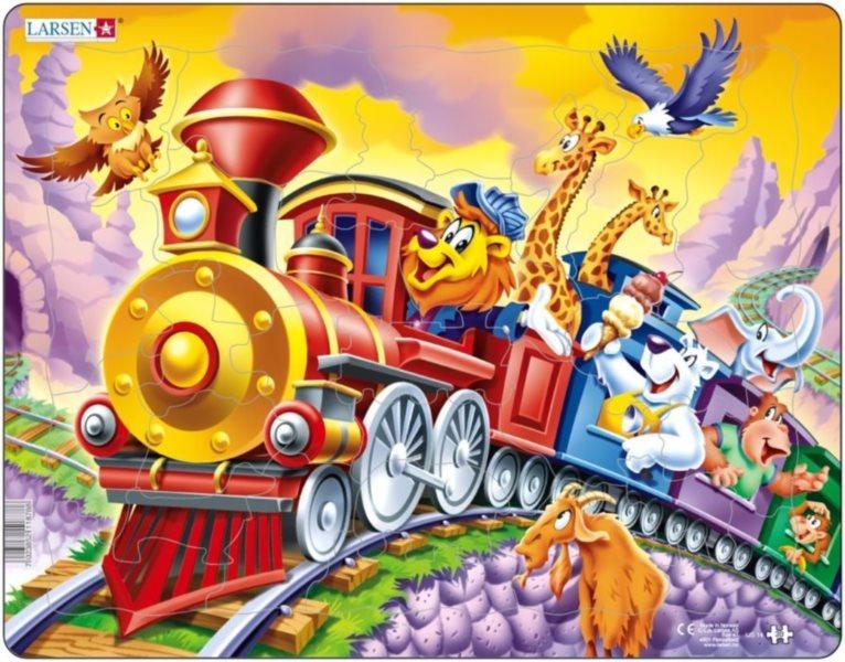 LARSEN Puzzle Cirkusový vlak 30 dílků