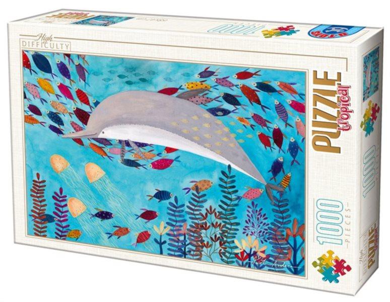 D-TOYS Puzzle Delfín 1000 dílků