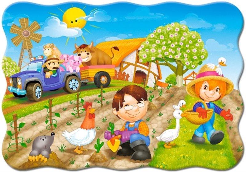 CASTORLAND puzzle Den na farmě 30 dílků