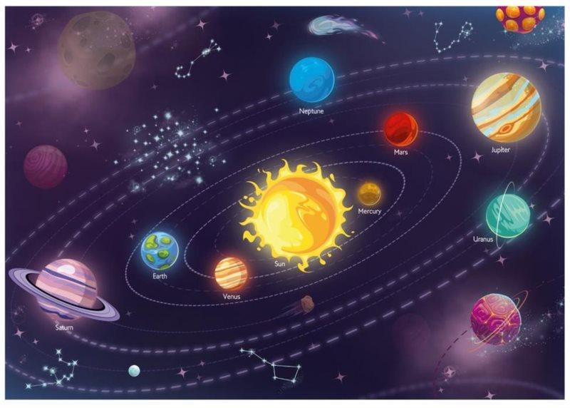DINO Puzzle Dětská sluneční soustava XL 300 dílků