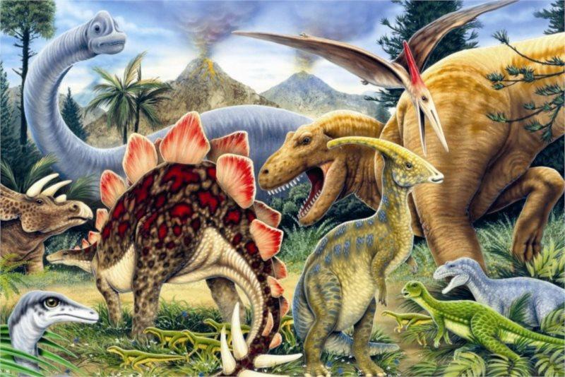 Dětské puzzle DINO 66 dílků - Dinosauři