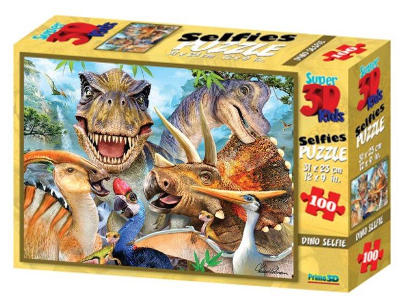 PRIME 3D Puzzle Dinosauří selfie 3D 100 dílků
