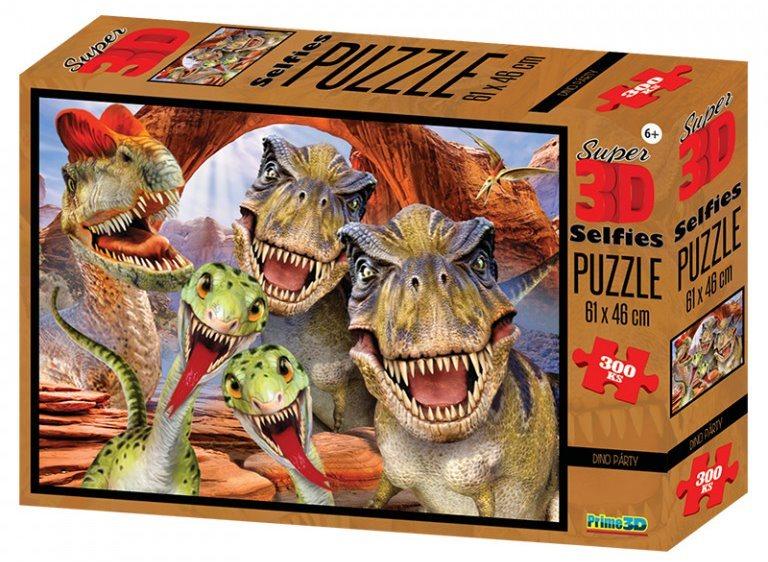PRIME 3D Puzzle Dinosauří selfie 3D 300 dílků