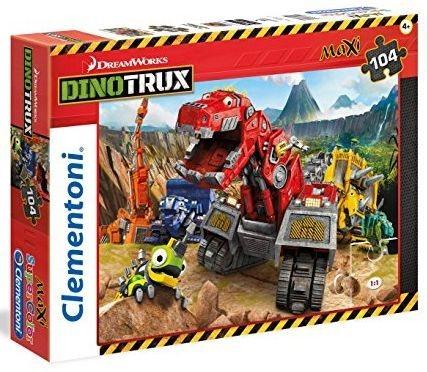 CLEMENTONI Puzzle Dinotrux MAXI 104 dílků