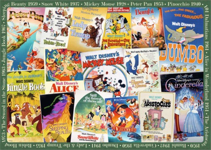 RAVENSBURGER Puzzle Disney plakáty 1000 dílků
