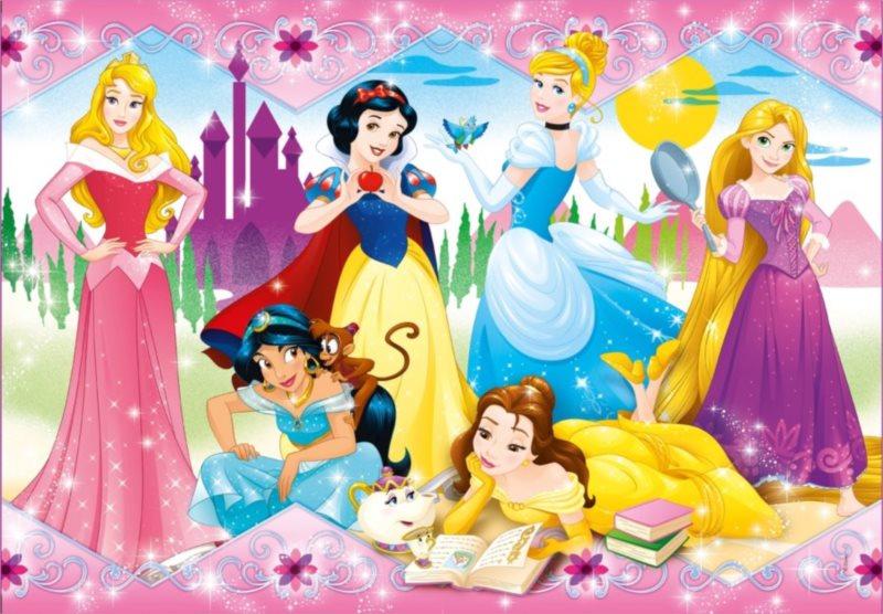 CLEMENTONI Puzzle Disney princezny 104 dílků