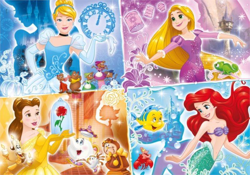 CLEMENTONI Puzzle Disney princezny: Barevné světy MAXI 104 dílků