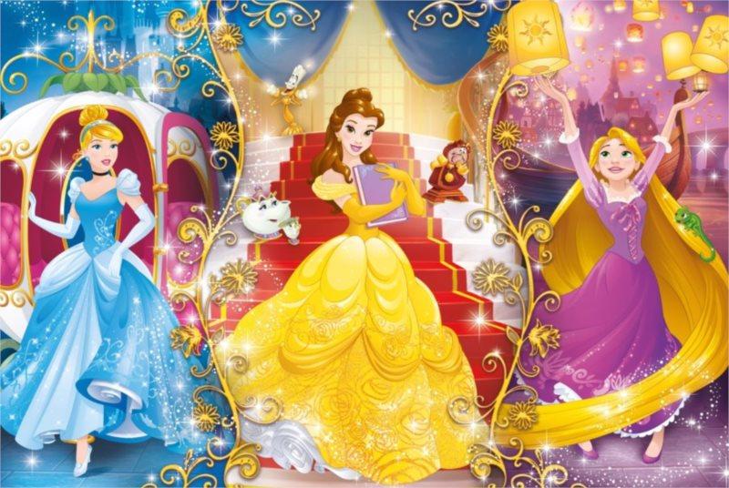CLEMENTONI Puzzle Disney princezny: Kouzlo okamžiku 104 dílků