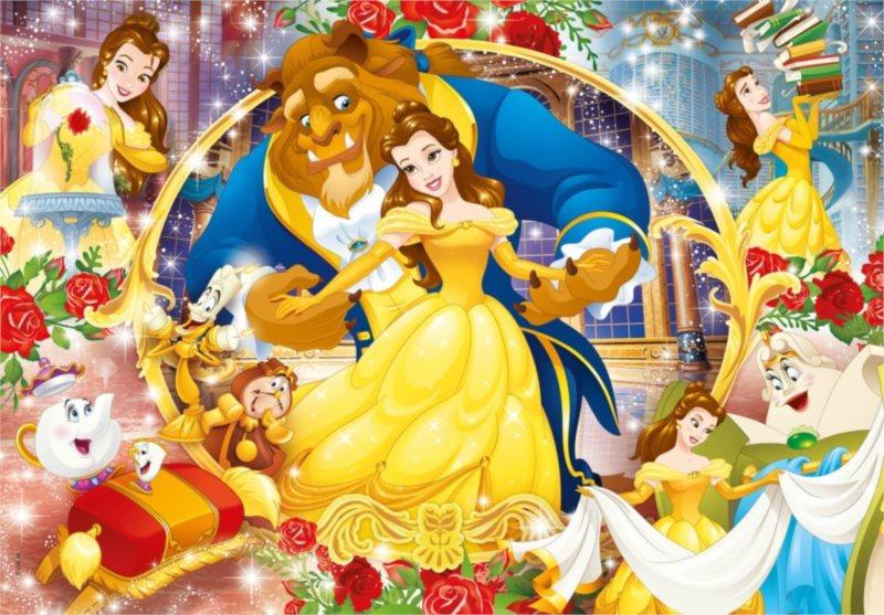 CLEMENTONI Puzzle Disney princezny: Kráska a zvíře 60 dílků