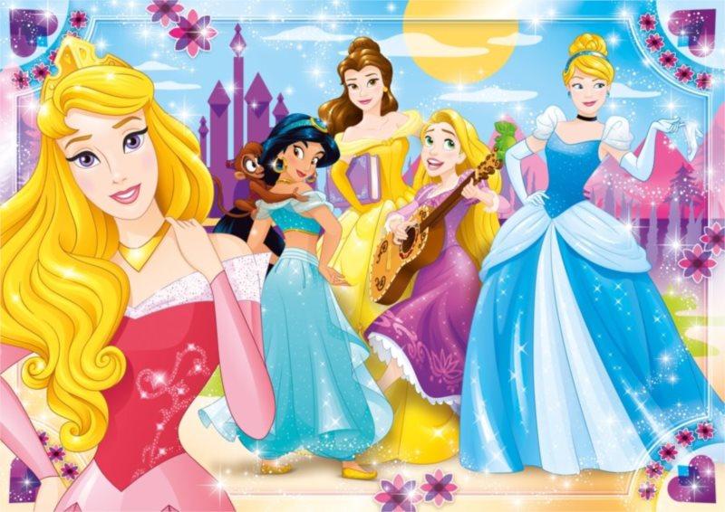 CLEMENTONI Puzzle Disney princezny MAXI 104 dílků