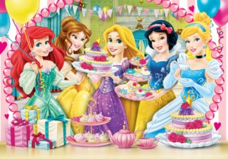 CLEMENTONI Puzzle Disney Princezny oslava 104 dílků