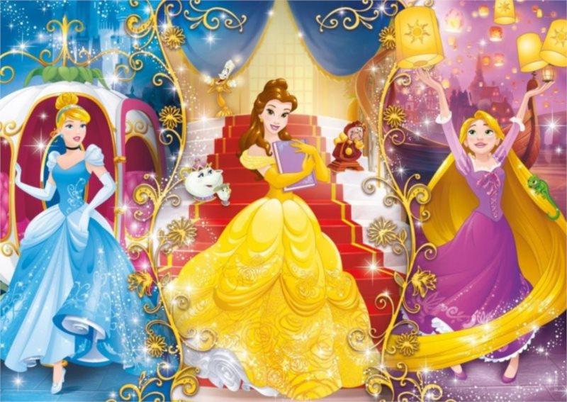 CLEMENTONI Puzzle Disney princezny: Pohádkový svět 60 dílků
