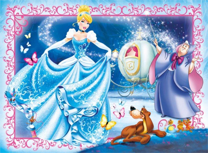 CLEMENTONI Puzzle Disney princezny: Popelka 104 dílků