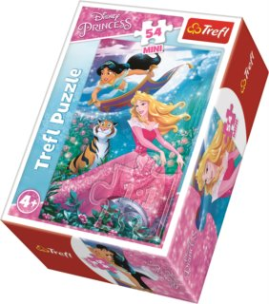 TREFL Puzzle Disney princezny: Šípková Růženka a Jasmína 54 dílků