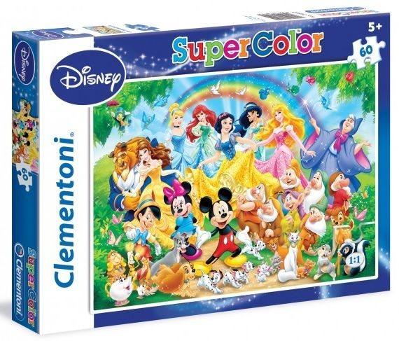 CLEMENTONI puzzle Disney: Společné foto 60 dílků