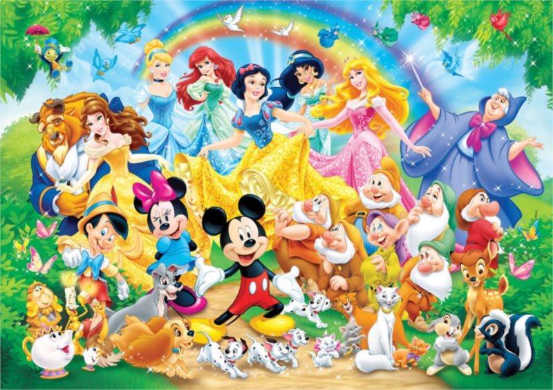 CLEMENTONI Puzzle 60 dílků - Disney: Společné foto