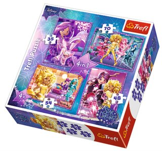 TREFL Puzzle Disney Star Darlings 4v1 (35,48,54,70 dílků)
