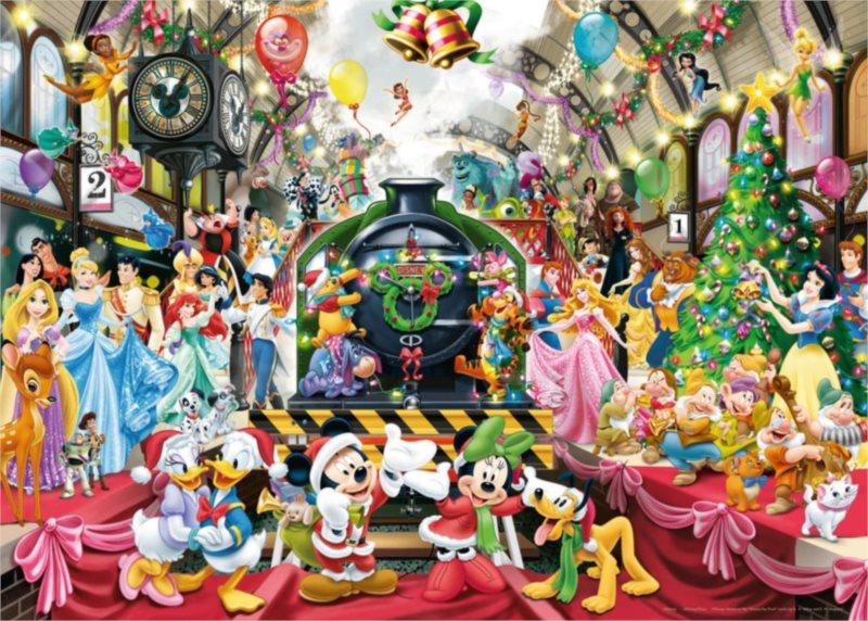 RAVENSBURGER Puzzle Disney vánoční vlak 1000 dílků