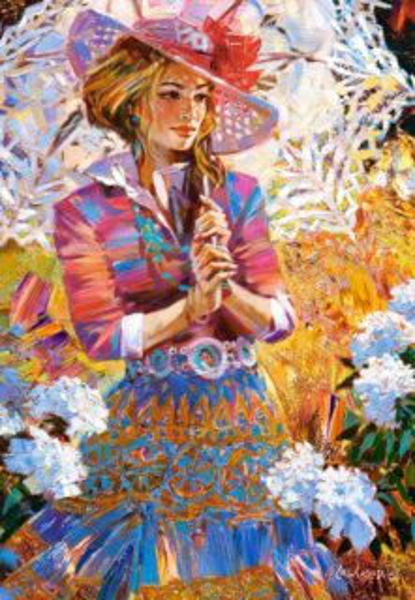 CASTORLAND Puzzle Dívka se slunečníkem 1500 dílků