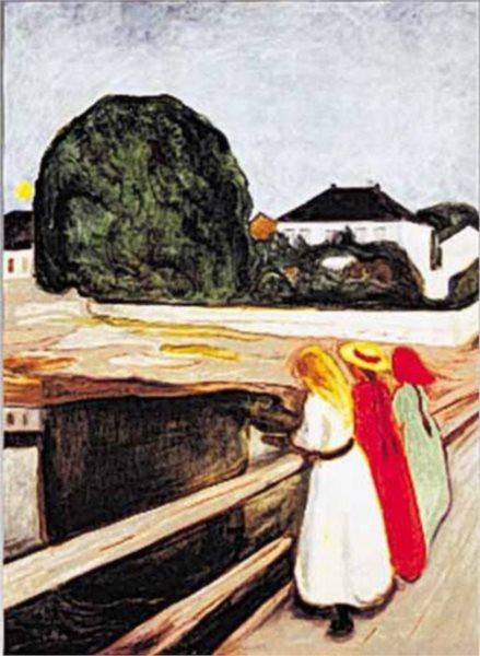 Puzzle EDITIONS RICORDI 1000 dílků - E. Munch: Dívky na mostě