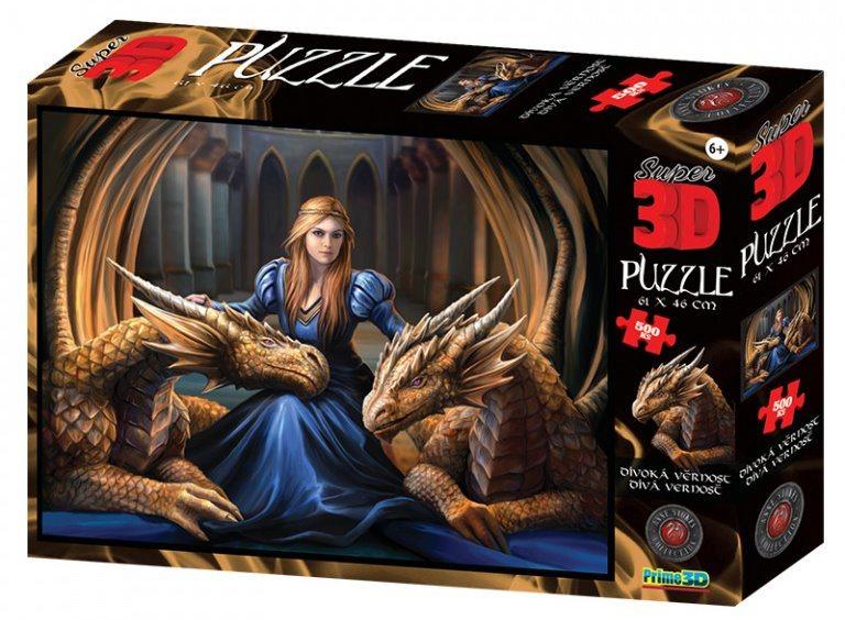 PRIME 3D Puzzle Divoká věrnost 3D 500 dílků