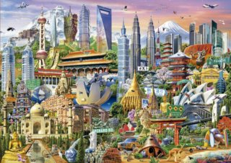 EDUCA Puzzle Divy Asie 1500 dílků